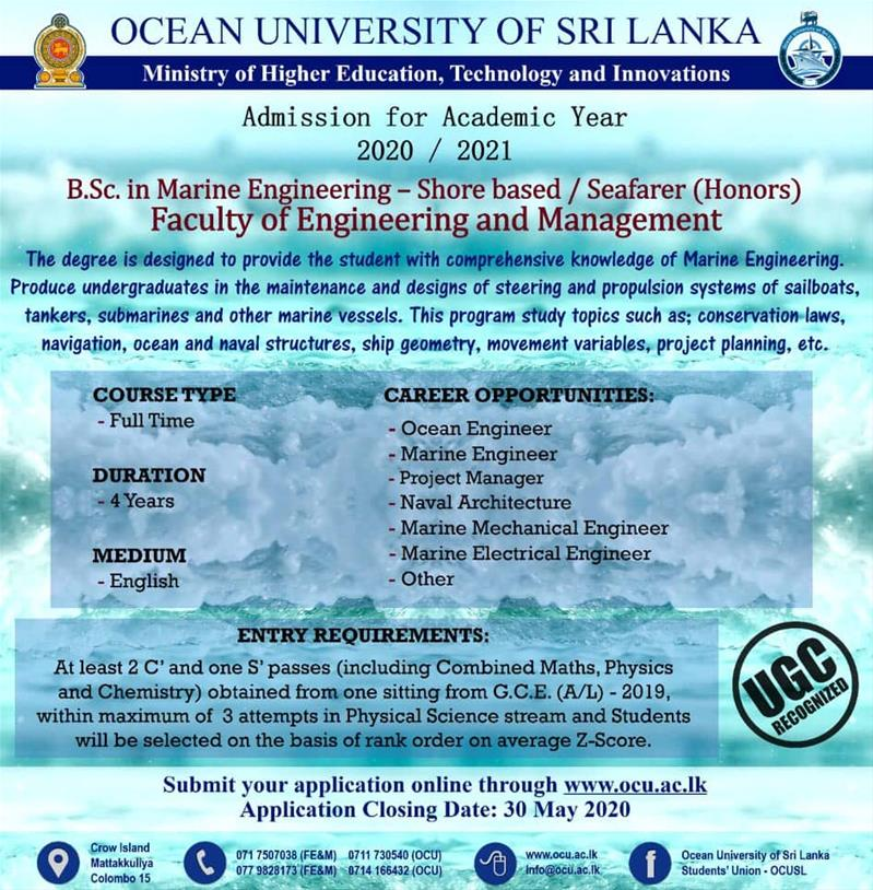 B.Sc. in Marine Engineering