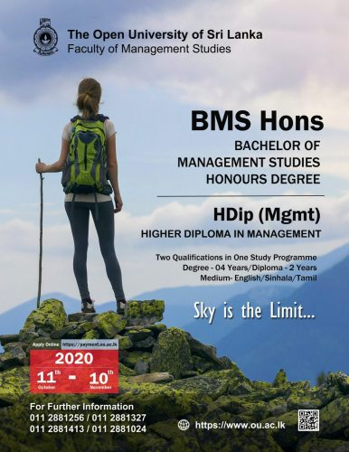Bachelor of Management Studies