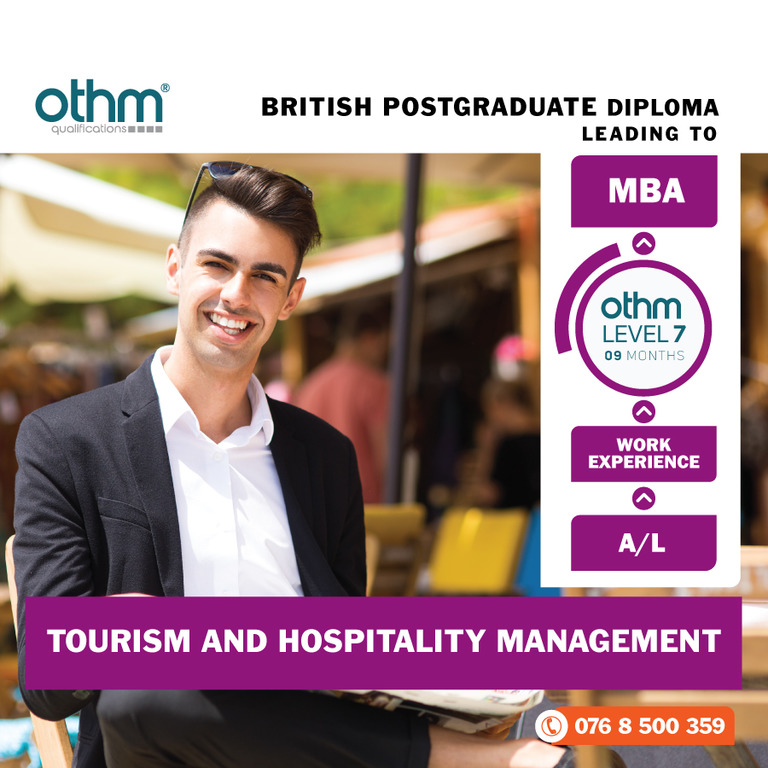 Hospitality and Tourism Management Level 7 - OTHM