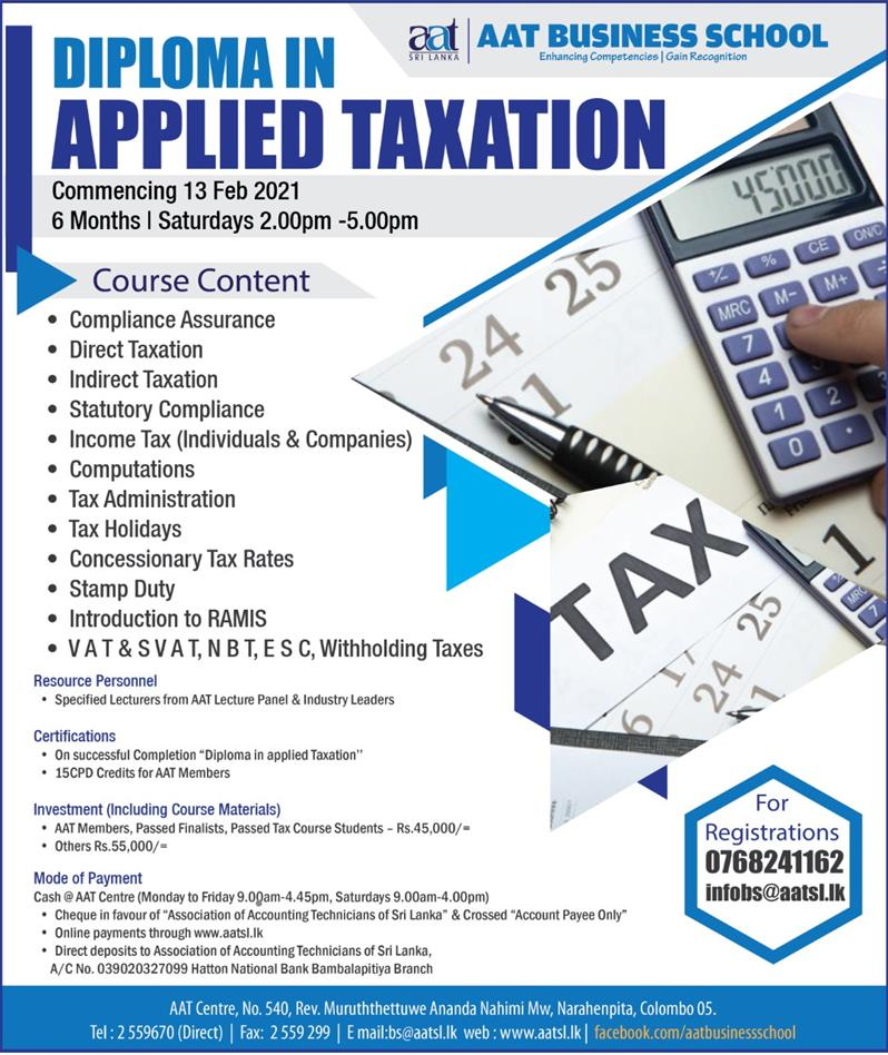 Diploma In Applied Taxation