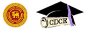 Centre for Distance and Continuing Education - CDCE - University of Peradeniya Logo